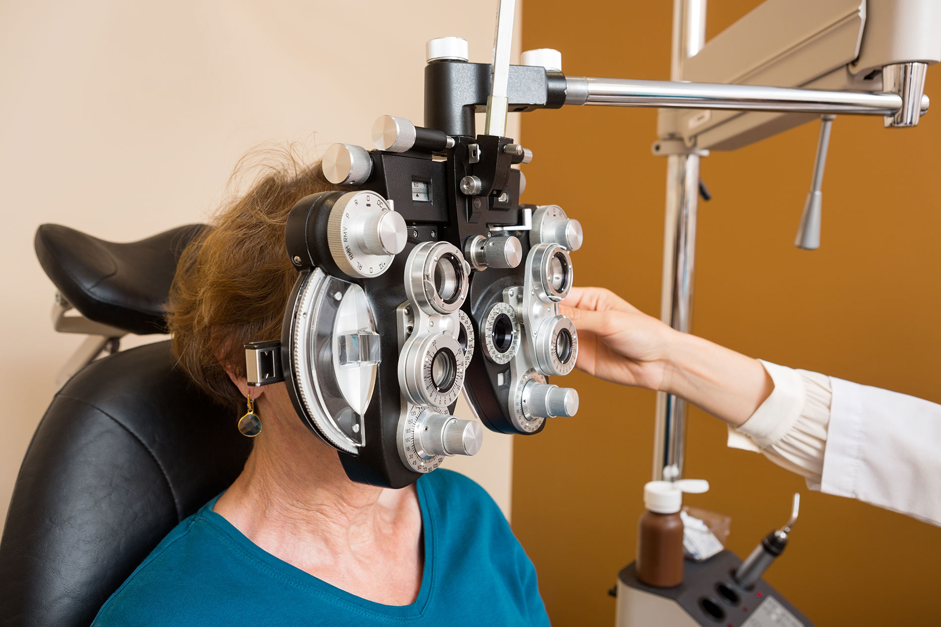 Vision Insurance - woman at eye doctor's office