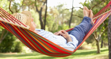 Wealth Management Retirement Planning - man in hammock