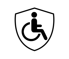 disability icon with shield