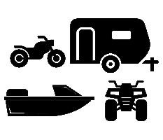motocycle, RV, boat, and ATV icons