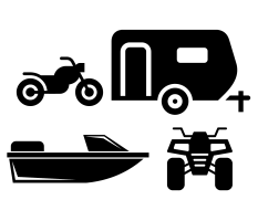 Motorcycle, RV, Boat, and ATV icons
