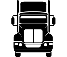 truck icon signifying custom programs for the trucking industry