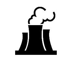 pollution liability smoke stack icon