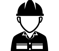 worker with hard hat icon
