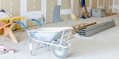 contractors equipment, tools and materials at building site