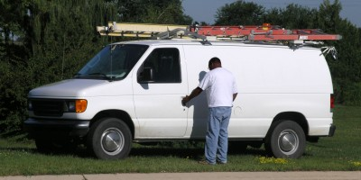 white work van