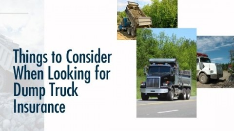 Things to Consider When Looking for Dump Truck Insurance title image