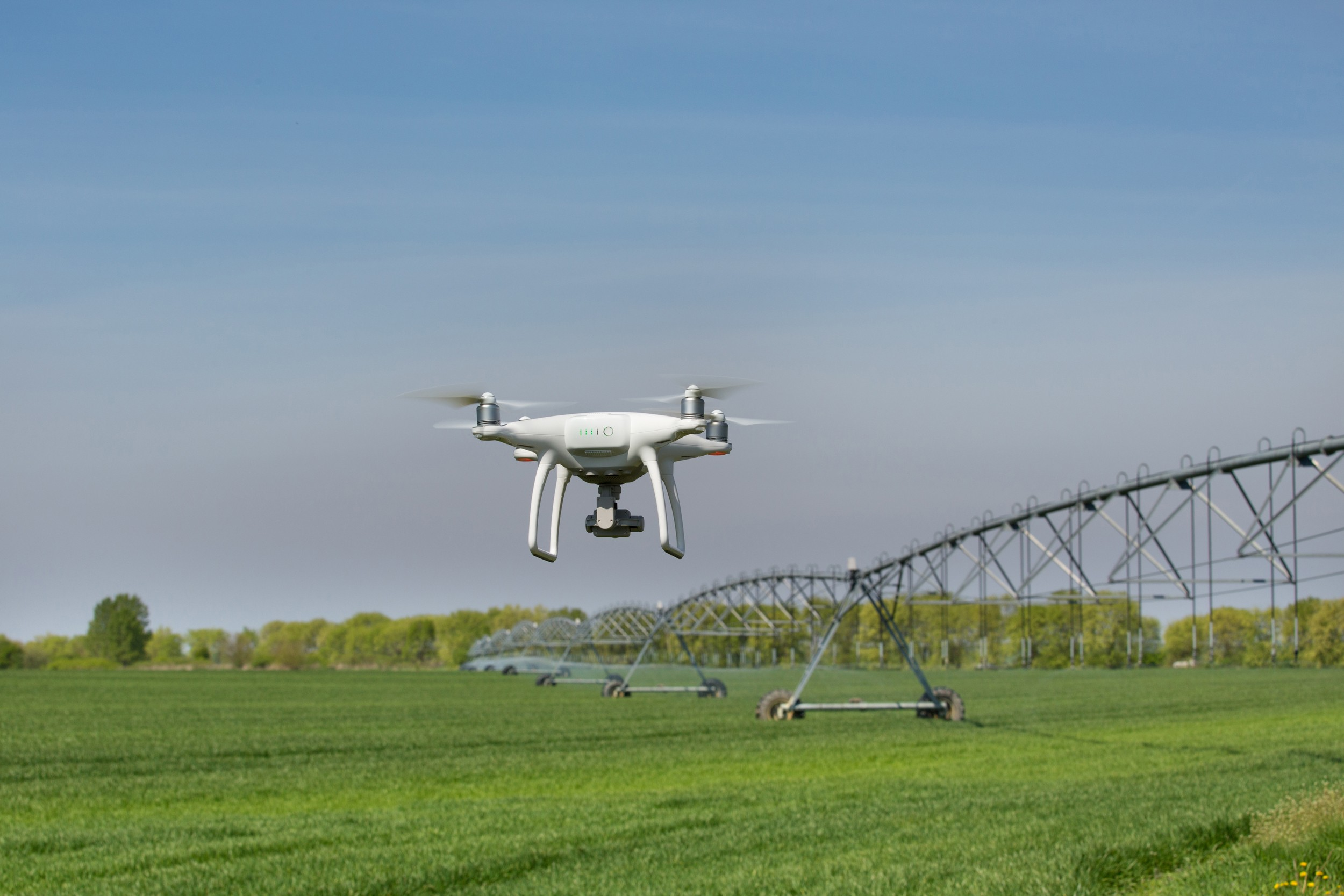 Agriculture Drone and Irrigation System on Farm